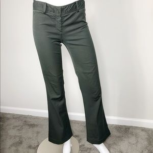 B-14: Theory Forest green flared trousers size 0